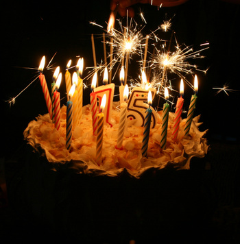 Fifteen Candles Burning Bright Like The Stars At Night